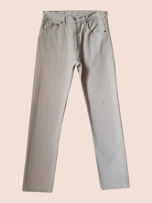 Levi's 501 cream jeans W32L34