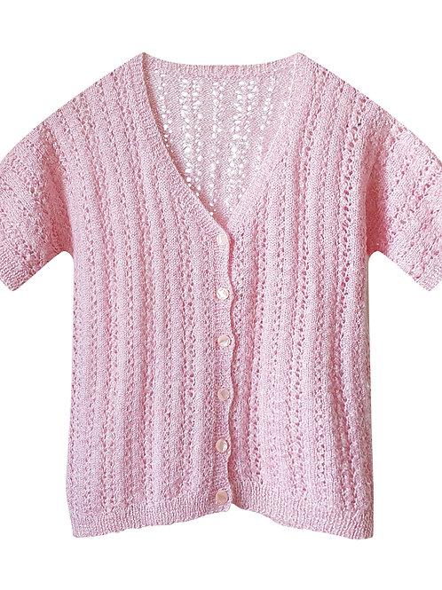 Handmade pink cardigan