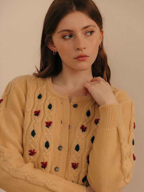 Pure wool cardigan