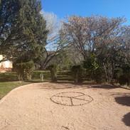 outdoor labrinth or medicine wheel area.