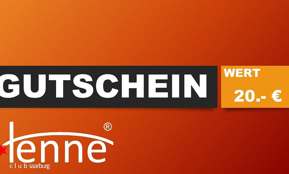 GUTSCHEIN WERT 20.- €