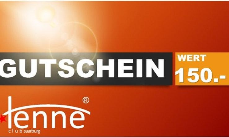 GUTSCHEIN WERT 150.- €