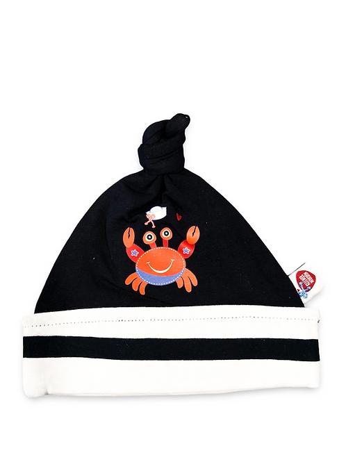 Kinder Mütze, maritim Krabbe Siebdruck