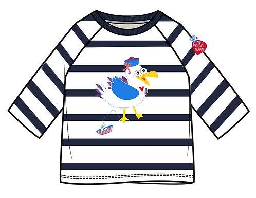 Kinder Shirt, langarm, maritim Möwe gestickt vom Kleinen Norden