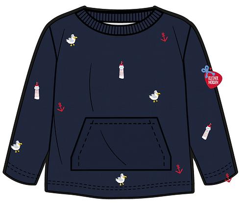 Sweater, maritim mit Küstentiere & Leuchtturm gestickt