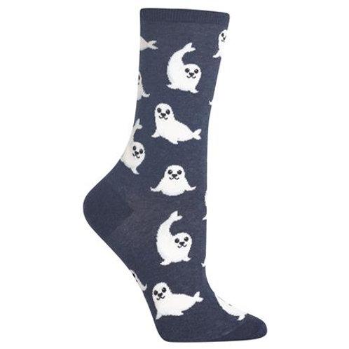 Hot Sox Damen Hafenrobben Crew Socks
