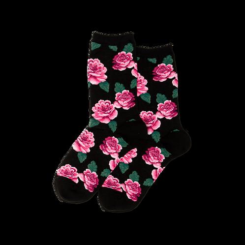 Hot Sox Damen Rosenprint Crew Socks