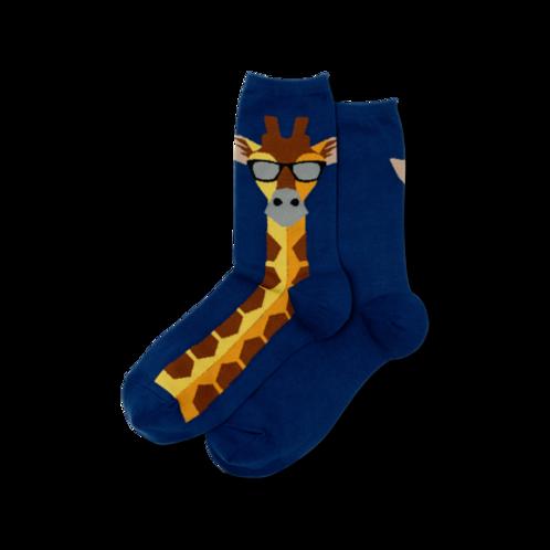 Hot Sox Damen Giraffe Crew Socks