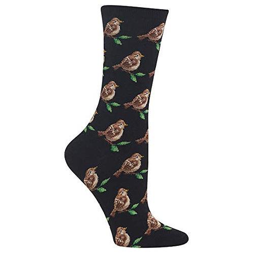 Hot Sox Damen Spatzen Crew Socks