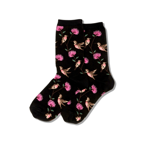 Hot Sox Damen Kolibris Crew Socks