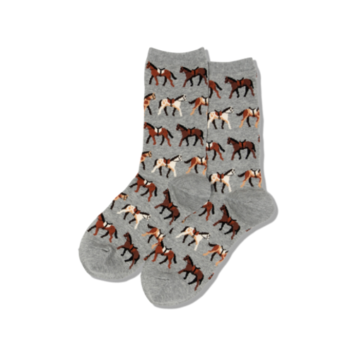 Hot Sox Damen Horses Crew Socks