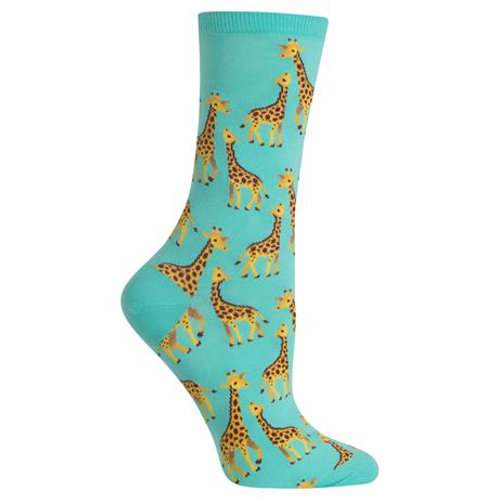 Hot Sox Damen Giraffen Crew Socks