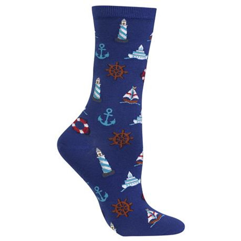 Hot Sox Damen mit Seemännischen Symbole Crew Socks