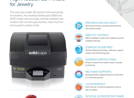 Solidscape S350 and S370 - High precision 3D printer