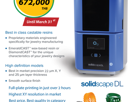 Are you ready? for the new promotion of the NEW Solidscape DLP 3D Printer 🤩🥳🤟