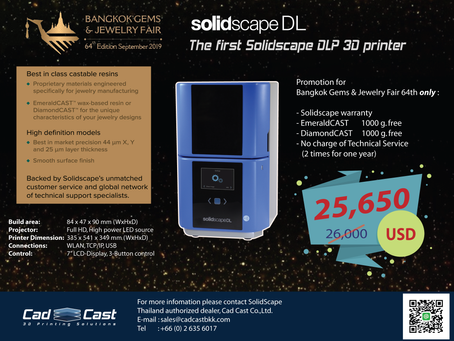 Getting the best promotion of the first Solidscape DLP 3D printer. 💍