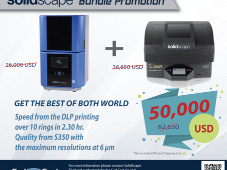 The Best Promotion for getting the maximum quality of Solidscape 3D Printers.