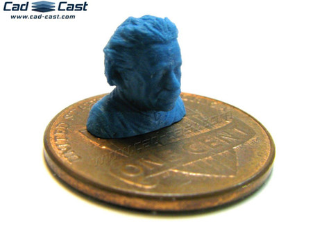 Tiny print of the week: Einstein's bust