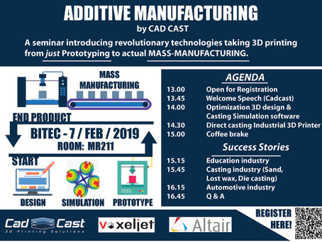 """""""Additive Manufacturing"""" - Mass manufacturing through 3D printing technologies."""