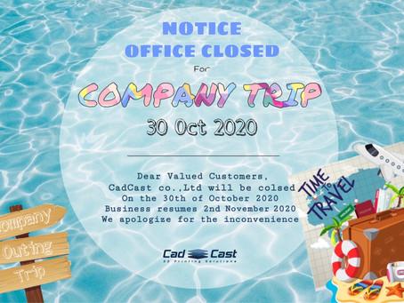 Cad Cast Co., Ltd. Company trip 2020