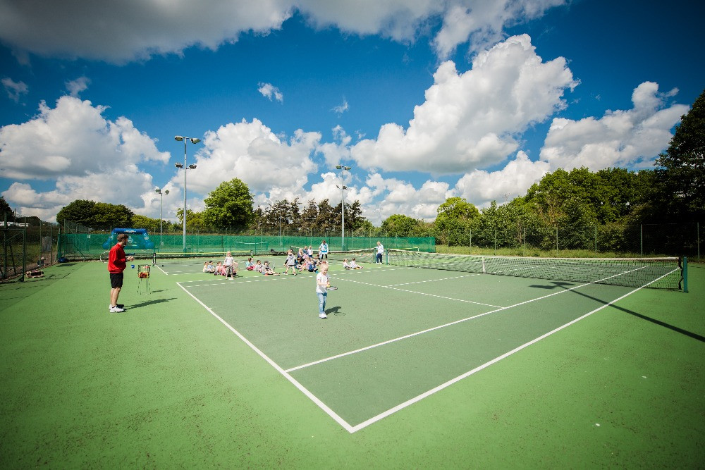 A perfect day for junior tennis!