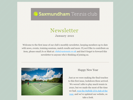 Our January 2021 newsletter is out!