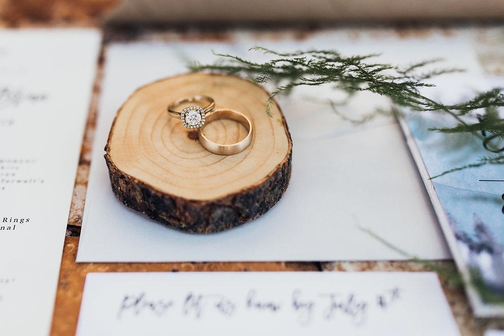 wedding ring, wedding invitation
