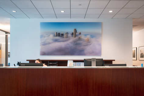 Originally used in conference room and moved to lobby