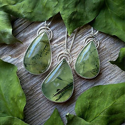 Prehnite is so beautiful, like suspended