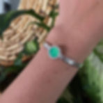 Glowing Chrysoprase Cuff, available onli