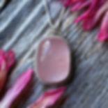 Pretty sunset pink Rose Quartz Necklace