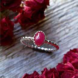 Gorgeous Sterling Silver Ruby Ring just