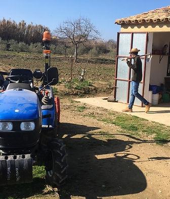 Javier Bara y el huerto