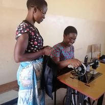 The students learned to use the sewing machines.