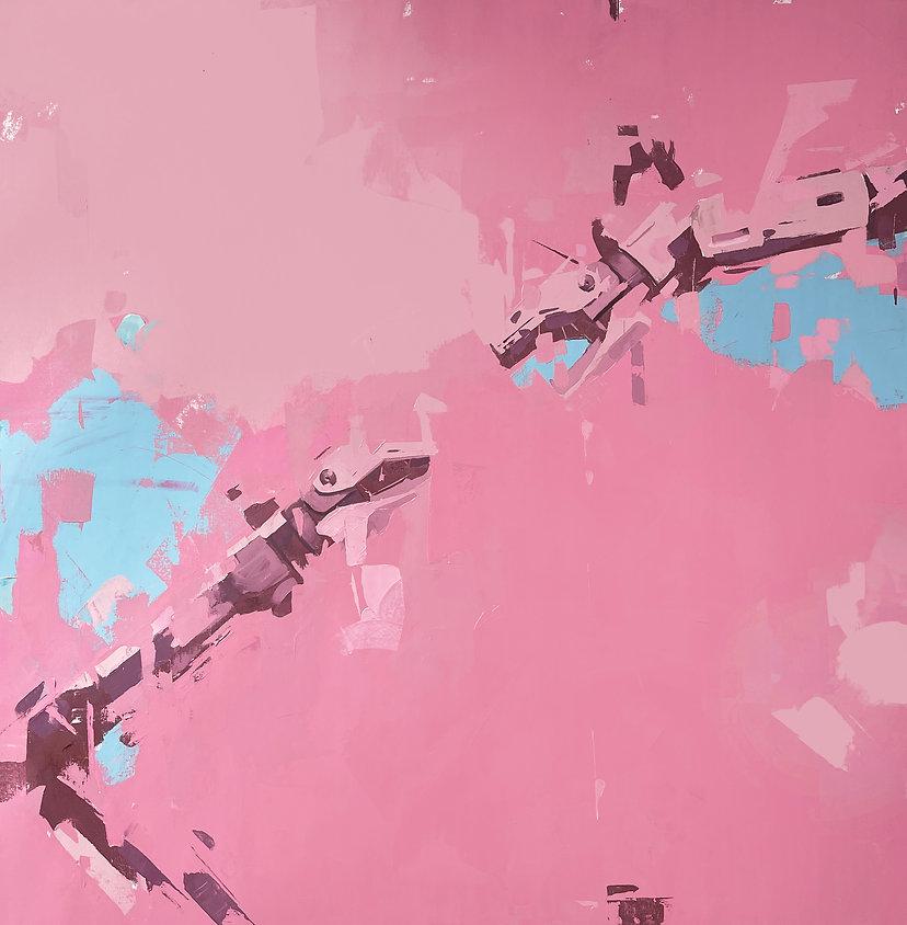 Sistine Chapel in Hot Pink 50 x 50.jpg