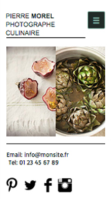 Photographie website templates – Photographie Culinaire