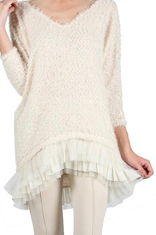 Fluffy Sweater Dress