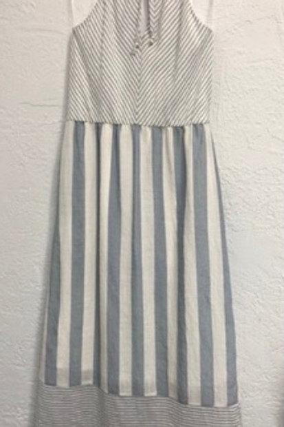 Directional Strip Maxi Dress