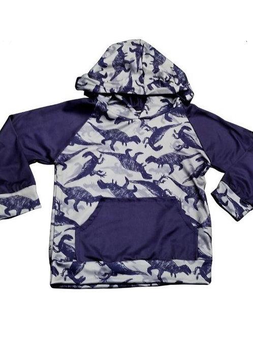 Grey Dinosaurs Hoodie