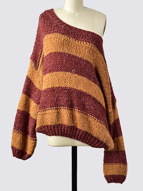 Round Neck Oversized Cozy Sweater