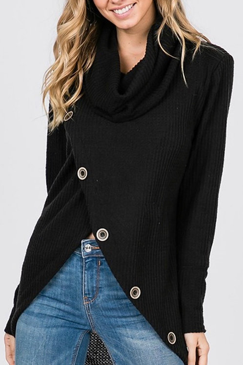 Thermal Turtle Neck Cross Cut