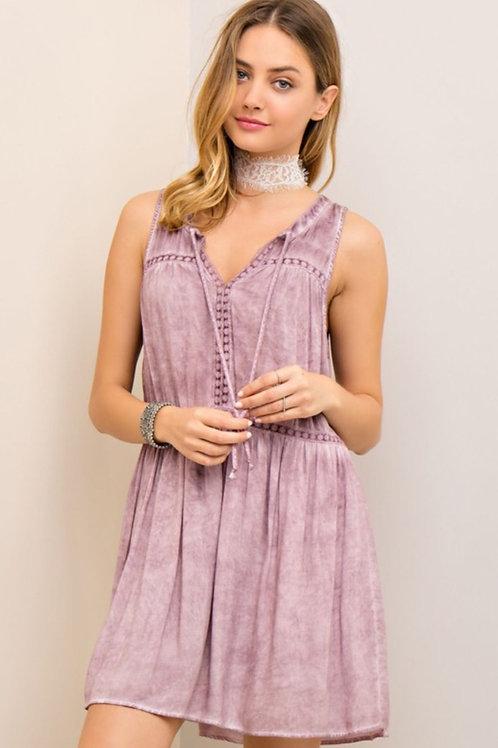 Pink Burnout Dress