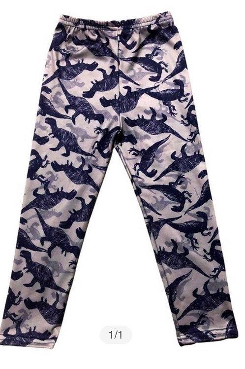 Grey Dinosaur Pants