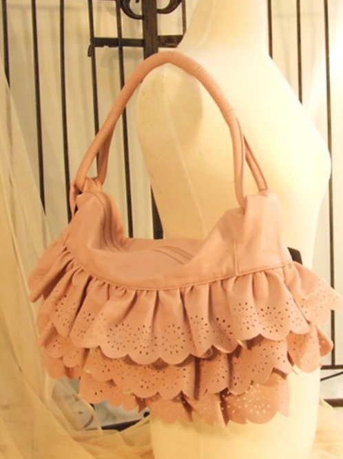 Sage Ruffled Purse