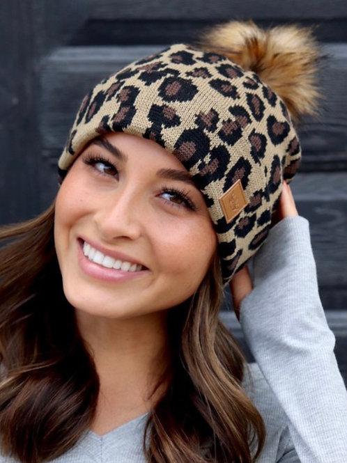 Leopard Stocking Cap