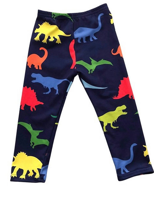 Multi Color Dinosaur Pants