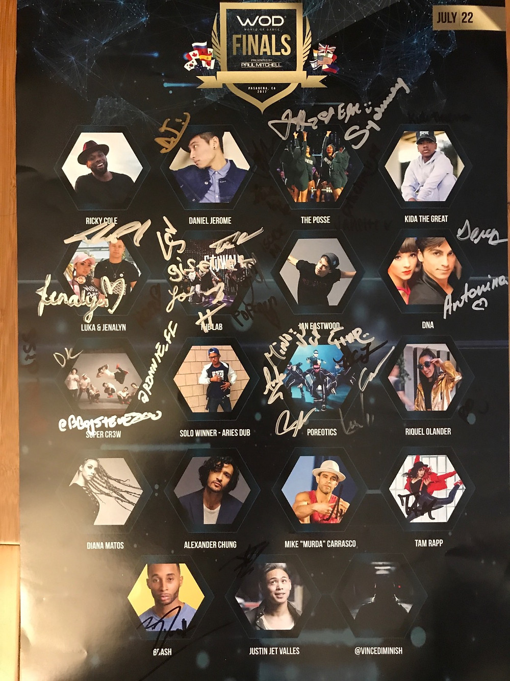 Signed World of Dance poster