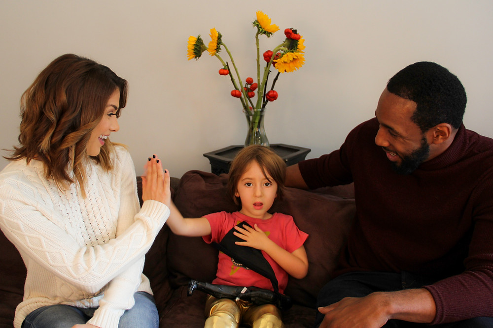 Allison Holker, tWitch and Liv for Children's Miracle Network