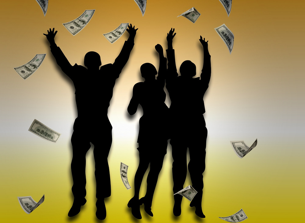 raining money dance