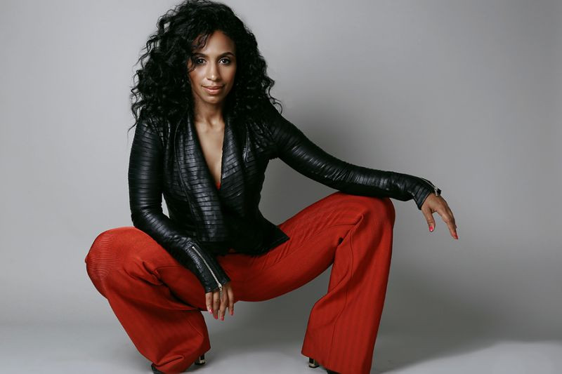 Chloe Arnold red pants